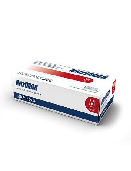 Красные нитриловые перчатки NitriMax