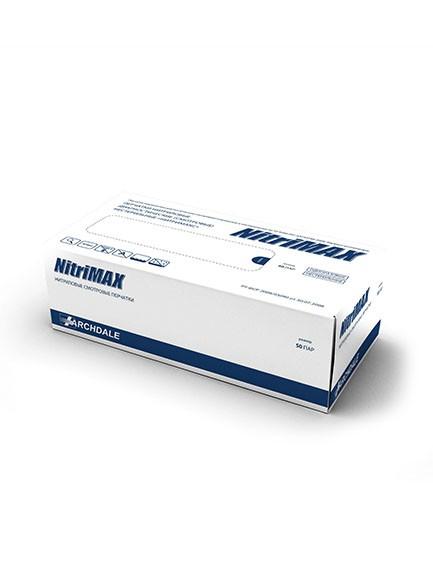 Белые нитриловые перчатки  NitriMax