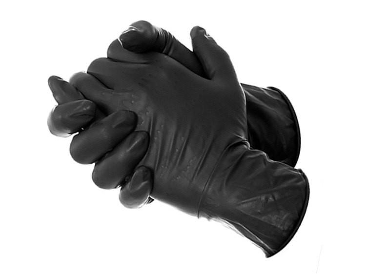 Перчатки нитриловые BI-SAFE (чёрные) S, M, XL №50/500