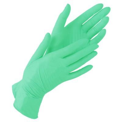Зеленые  нитриловые перчатки  NitriMax