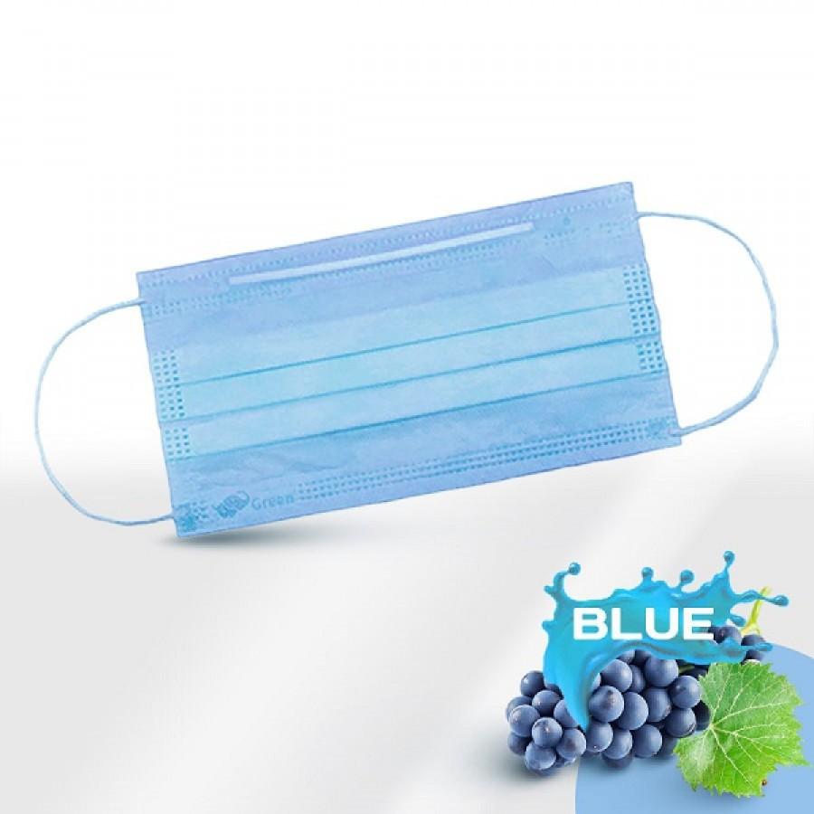 Маска одноразовая голубая в п/э 50 шт